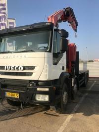 איווקו משאית ארגז פתוח מנוף קדמי 8X4